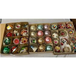 3 Vintage Boxes Of Christmas Ornaments From Germany