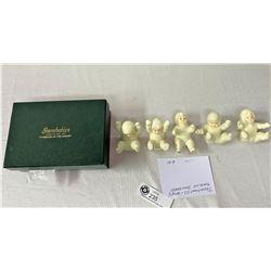 Department 56 Set Of 5 Tumbling Snow Babies With Original Box