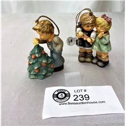 Nice Lot Of 2 Goebel Christmas Tree Figurines