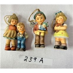 Nice Lot Of 3 Goebel Christmas Tree Figurines