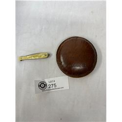 Leather Advertising Paperweight And Vancouver Knife Fob
