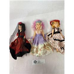 "3 - 1960s Arco Gas Sation Sleepy Eye ""Dolls Of The World"" (Atlantic Rich Field Co.)"