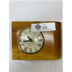 Nice Vintage Electric Clock In Wooden Base