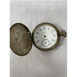 Omega Pocket Watch (1896 Gold Medal) Sterling Case, Missing Crown And Hands