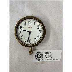 "1920s-1930s ""Bugatti"" Style 8-Days Clock Swiss Movement, Runs Great"