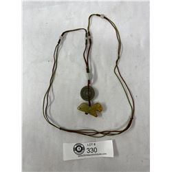 Carved Stone Asian Pendant