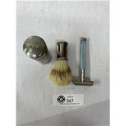 Vintage Williams Shaving Stuck Tube, Brush, Double Edge Razor