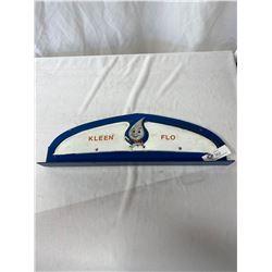 Vintage Kleen Flo Display Top Sign