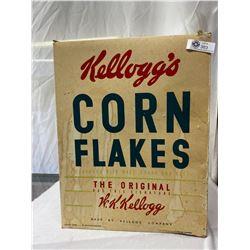 Large Vintage Kellogs Corn Flakes Store Display Ceral Box