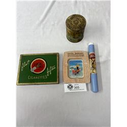 Nice Vintage Tobacco Collectible Lot With Hotel Burnaby Ash Tray