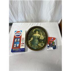 Nice Vintage Pepsi Cola Collectible Lot, Tray, Etc