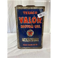 Vintage Texico Valor Motor Oil Can, Texico Canada Limited