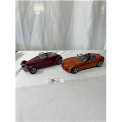 2 1/18 Scale Dieceast Cars Plimith Prowler And Dodge