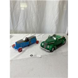 1/18 Scale 1937 Ford Covertable Plus 1934 Winner Metal Soap Box Derby Car