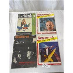 Lot Of 4 Vintage Magazines, Vancouver Life, News Week, Etc