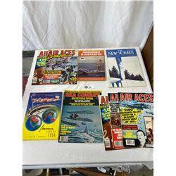 Nice Lot Of Vintage Magazines, Air Aces, The Newyorker, Mechanix Illustrated
