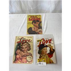 3 Vintage 1950s Love Magazines