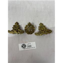 Lot Of 3 WW2 Canadian/British Soldiers Cap Badges