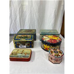 Nice Collectible Tin Lot