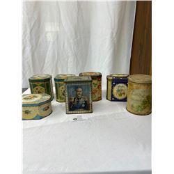 Nice Vintage Lot Of Tea Tins, Etc