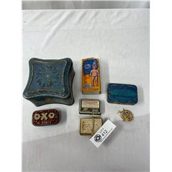 Nice Collectible Lot Of Tobacco Tins, Etc