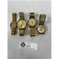 Nice Lot Of 4 Vintage Men's Watches As Found