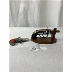 2 Vintage Gun Lighters As Found