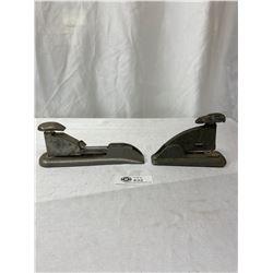 2 Vintage Staplers