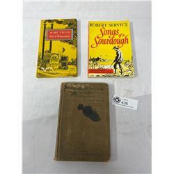 Nice Lot Of 3 Vintage Books Poems, Mark Twain, Etc