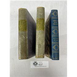 Nice Lot Of 3 Antique Books