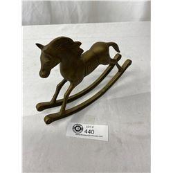 Nice Vintage Brass Horse 8x6