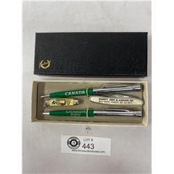 Vintage Canada Dry Pen And Pencil Set Plus 2 Pen Knifes