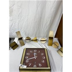 Vintage Mid Century Modern Clock And Mid Century Modern Hanging Art