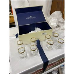 Vintage Hudson's Bay Gold Rimmed Glasses with Original Box