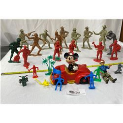 Lot of Marx Cowboys and Indians Toys Plus Others