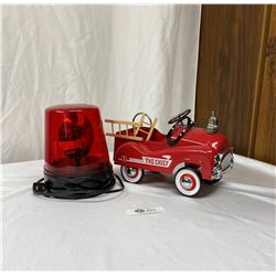 Toy Fire Engine Plus a Red Light