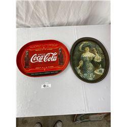 2 Vintage Coca Cola Serving Trays