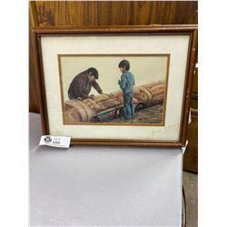 Doroth Francis Native Print in Frame