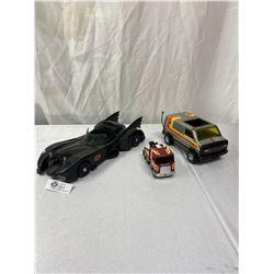 Lot of Vintage Toy Vehicles. Van, Batmobile, etc