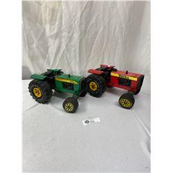 Lot of 2 Vintage Tonka Tractors