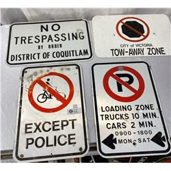 Lot of 4 Street Signs