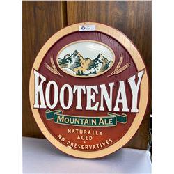 Wooden Kootenay Mountain Ale Sign