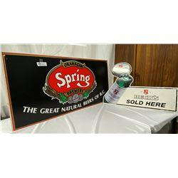 2 Vintage Beer Signs Becks and Okanagan Springs
