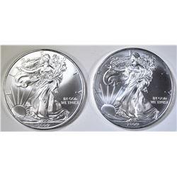 2-2009 BU AMERICAN SILVER EAGLES