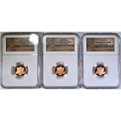UNION SHIELD LINCOLN CENTS, 2010-S, 11-S, & 12-S
