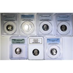 GRADED PROOF QUARTERS FROM THE 70s; 1974-S