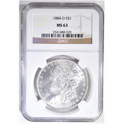 1884-O MORGAN DOLLAR  NGC MS-63