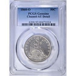 1860-O SEATED LIBERTY HALF DOLLAR  PCGS GENUINE