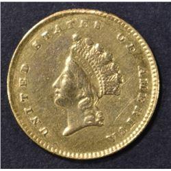 1854 $1 GOLD INDIAN PRINCESS  CH BU
