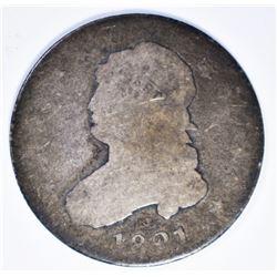 1821 BUST QUARTER  AG